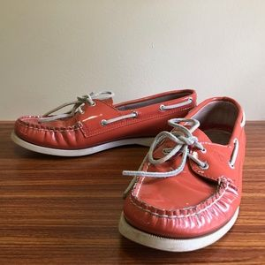 SPERRY TOPSIDER ORANGE BOAT Shoes 8.5